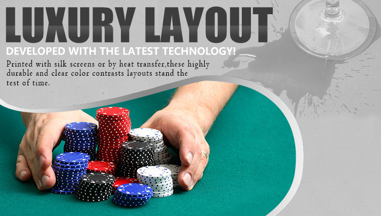 Texas Hold'em poker oval table layout-10P(DZ01B1)