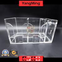 Casino Poker Card Holder Gaming Dealer Playing Card Carrier Tranparent (DH01)