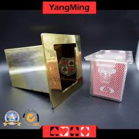 Stainless Steel Poker Tray 8 Deck Cards Table Gift Box (CX01)
